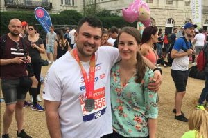 Ed at the London Marathon