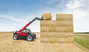 Stacking Hay Bales - Louth Tractors