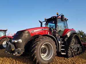 case ih tractor red