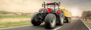 case IH optum red tractor