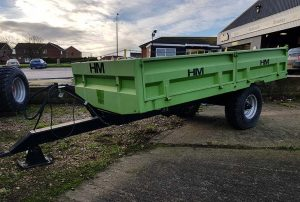 hm utility trailer green