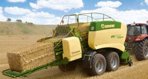Krone Baler and Tractor